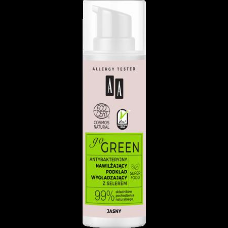AA GO GREEN Nawilżający Podkład Wygładzający Jasny Natural z selerem 30 ml