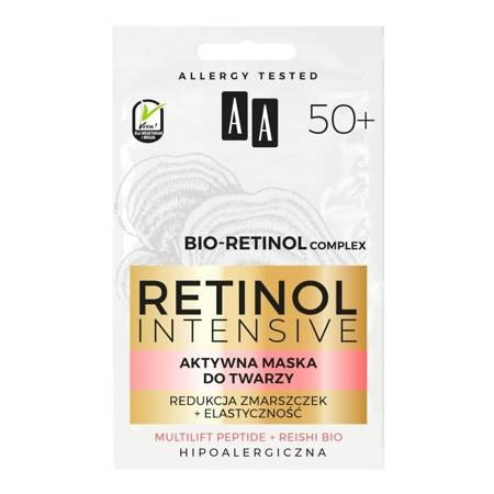 AA Retinol 50+ Maska do twarzy redukcja zmarszczek 2x5ml