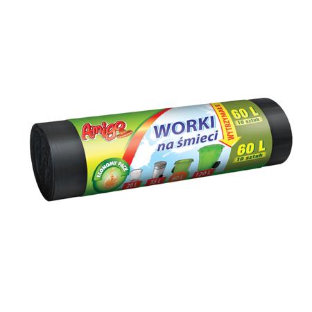 AMIGO Worki na śmieci LDPE 60L 10szt.