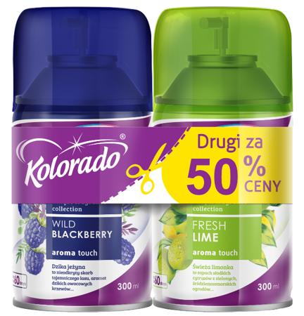 Kolorado AROMA TOUCH Wild Blackberry+Fresh Lime ZESTAW