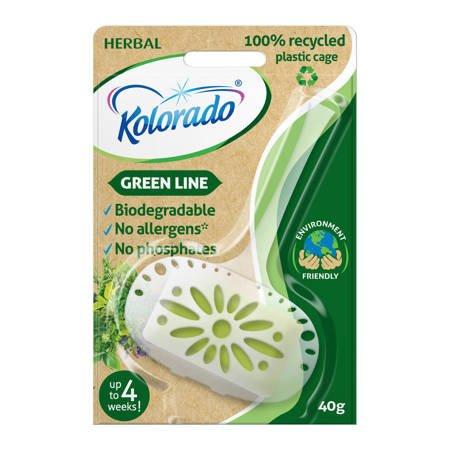 Kolorado Green Line Herbal kostka WC 40g