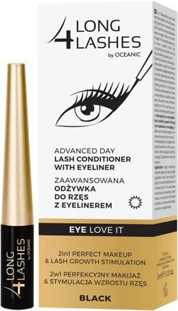 LONG4LASHES EYE LOVE IT Odżywka do rzęs z eyelinerem BLACK
