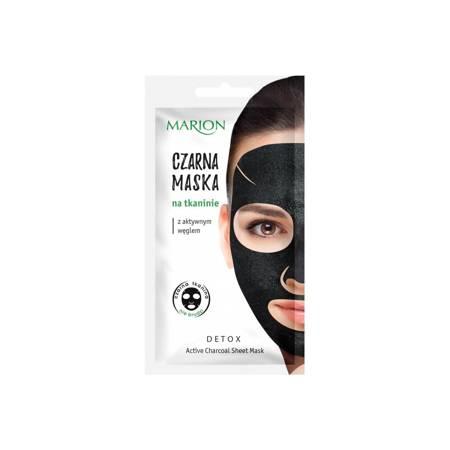 Marion Czarna maska na tkaninie