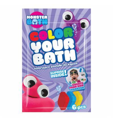 Monster Bath Barwinki musujące barwiące wodę 6szt