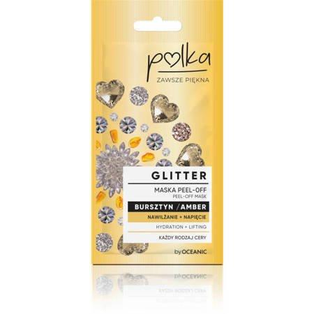 POLKA Glitter Maska Peel off Bursztyn Nawilżenie 6ml