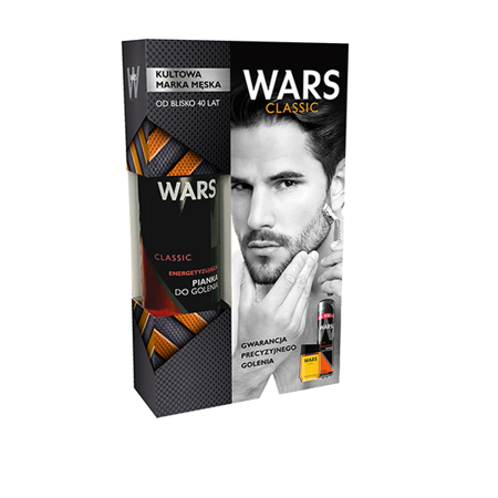 Wars Classic Zestaw - Pianka do golenia + płyn po goleniu
